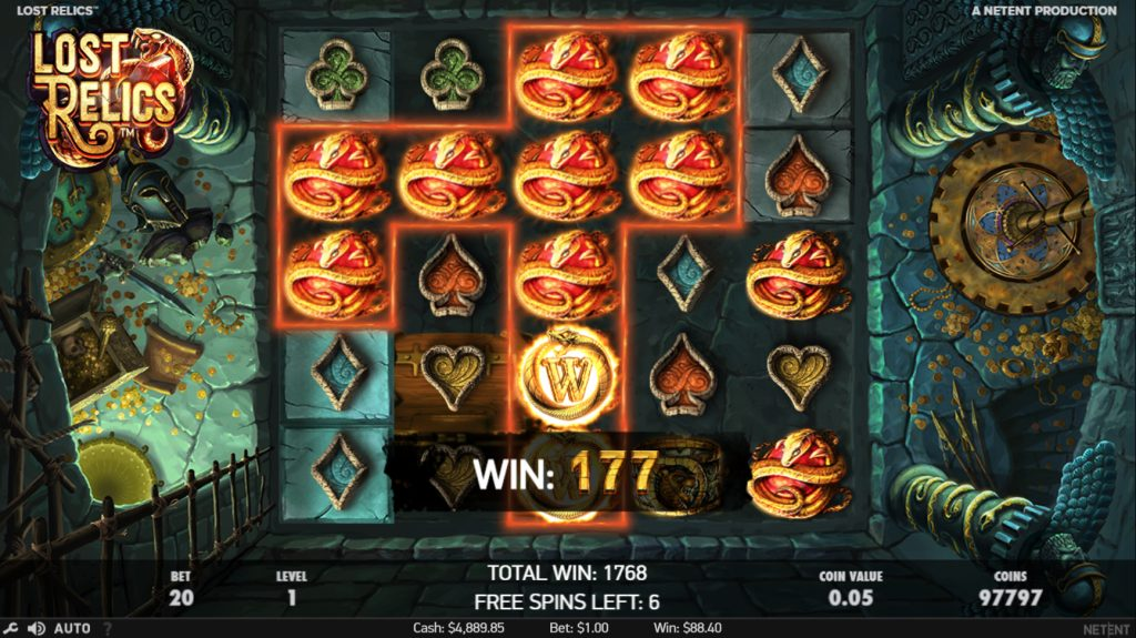 best paying slots lost relics