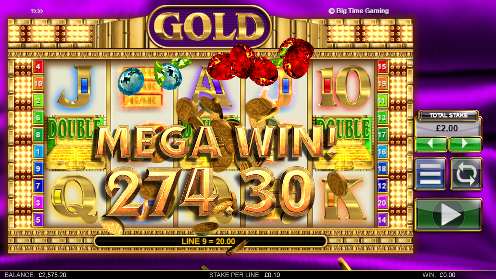 big time gaming slots gold big wins