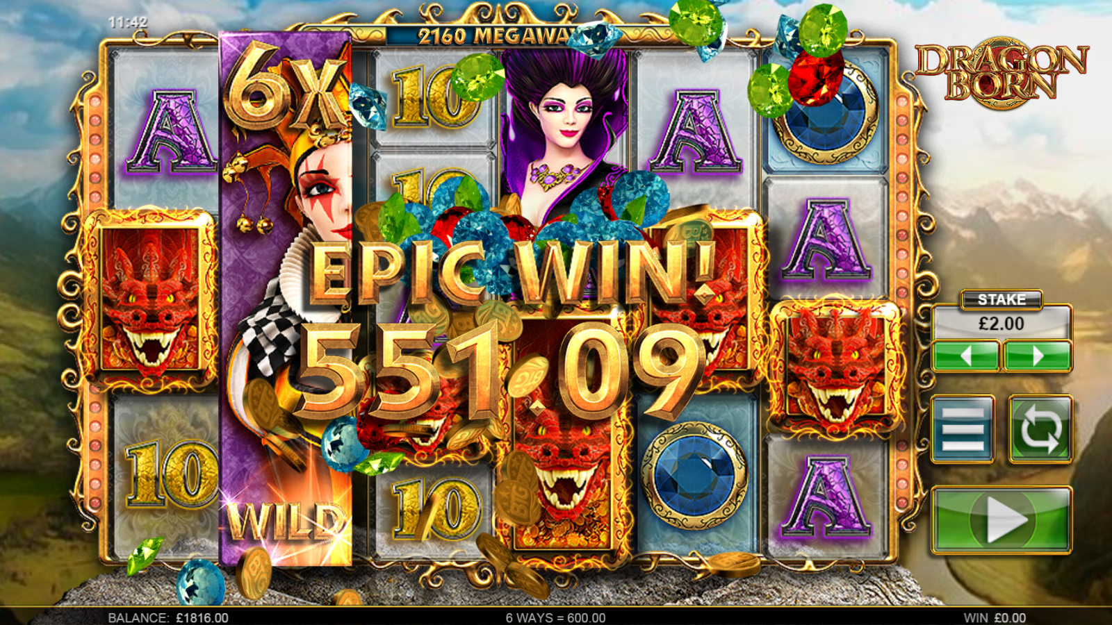 big time gaming slots dragon born reels and big win
