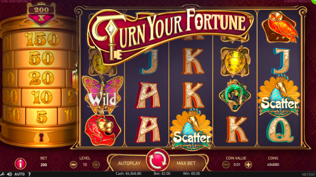 Turn Your Fortune Slot Review Game Screen