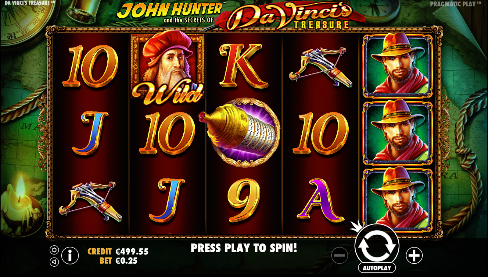 pragmatic play slots da vinci treasure