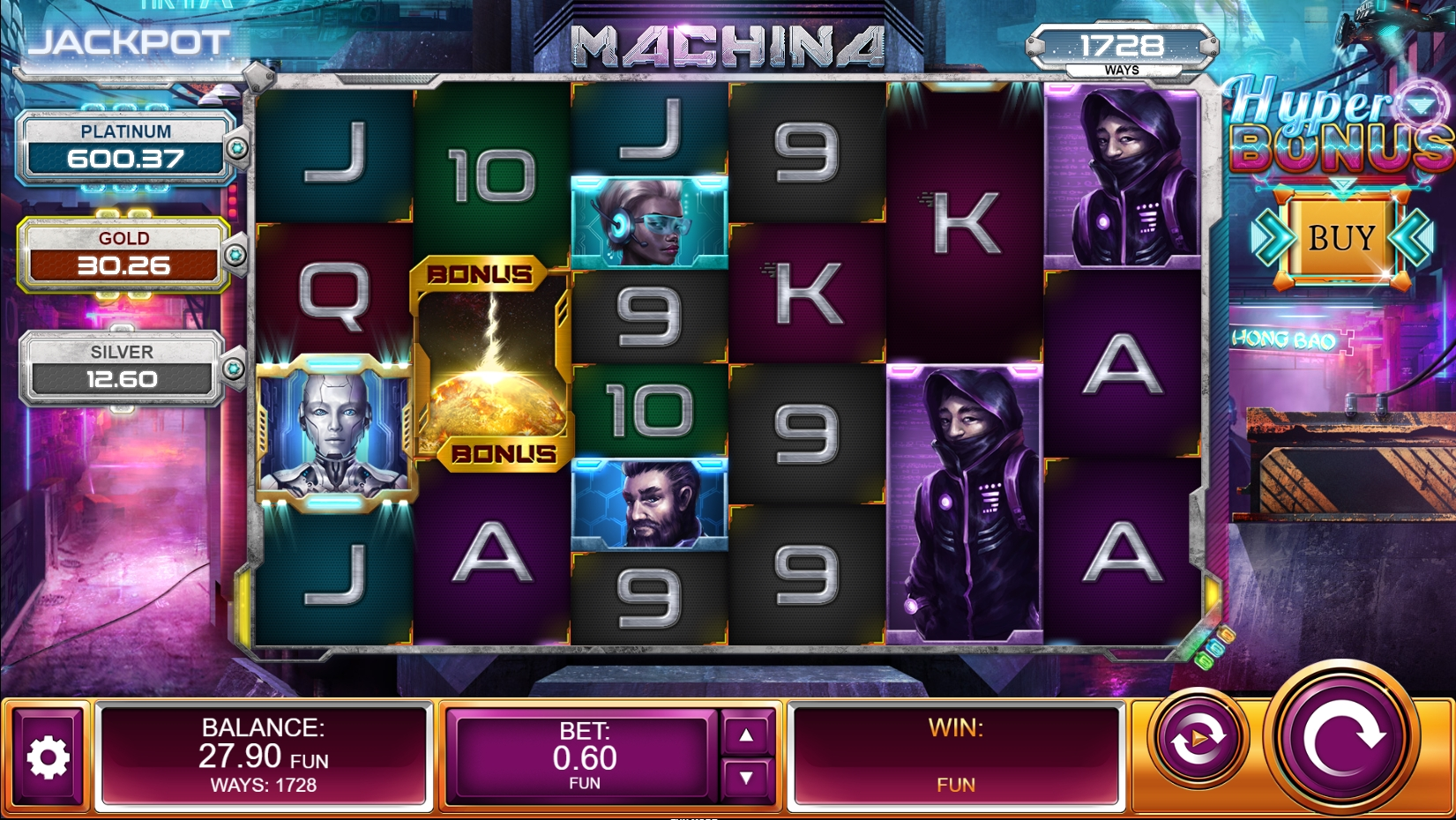 Machina Slot Review Basegame