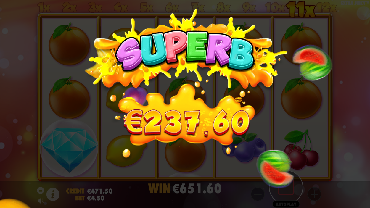 Extra Juicy Slot Big Win