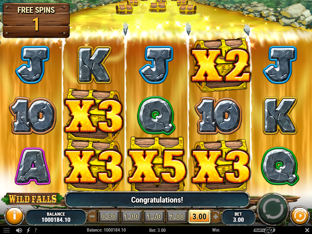 Wild Falls Slot Review Golden Chests