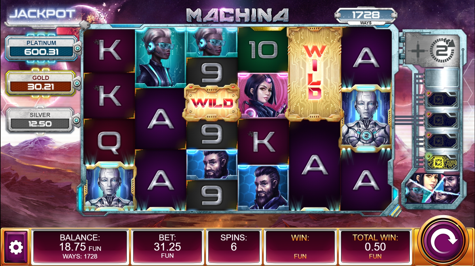 Machina Slot Review Bonus