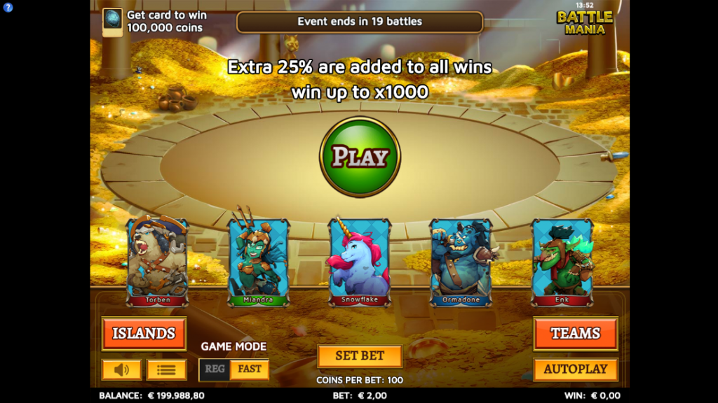 Battle Mania Slot Review Treasure Island